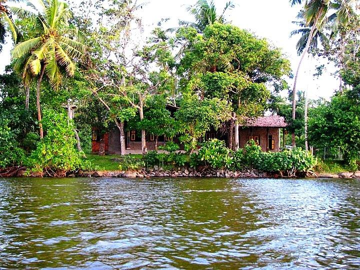 The view of the cottage from the water.