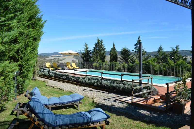 Panoramic Villa  in Crete Senesi, holiday rental in Asciano