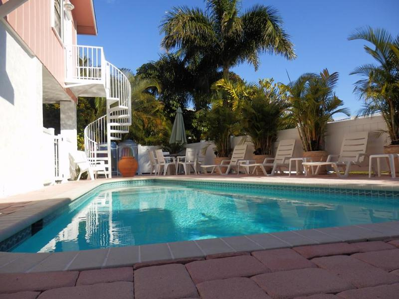 Private heated pool. Single family residence. Pool and property is not shared.
