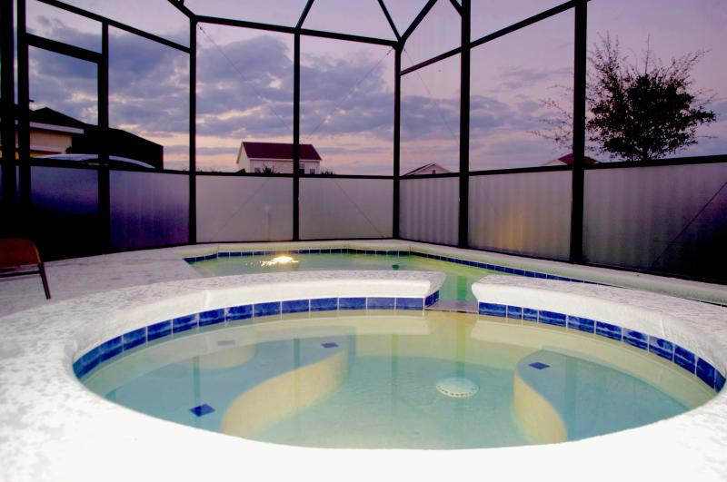 Pool with privacy screen
