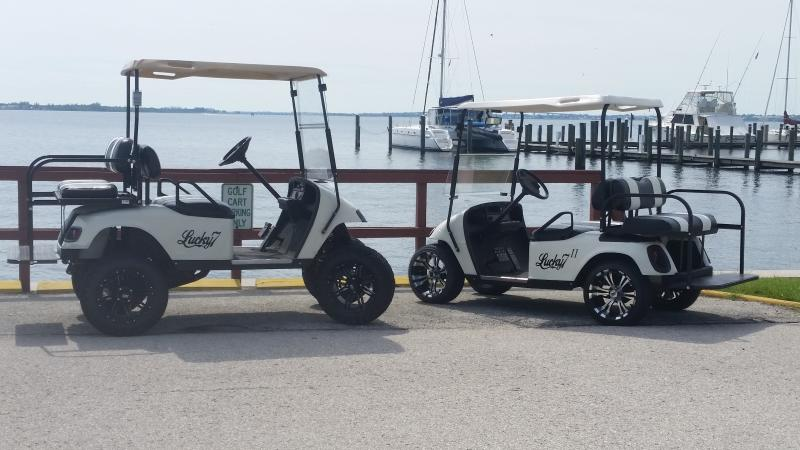 We included a nice golf cart for your transportation within our community
