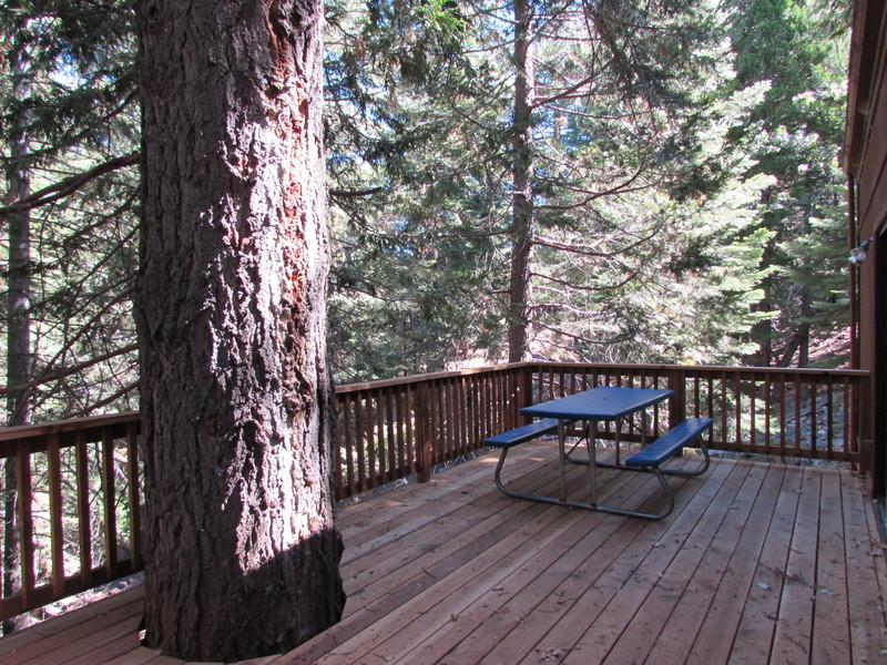 Large, private deck