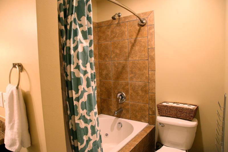 Haute qualité douche Pierre & baignoire à jets jacuzzi dans le bain du maître