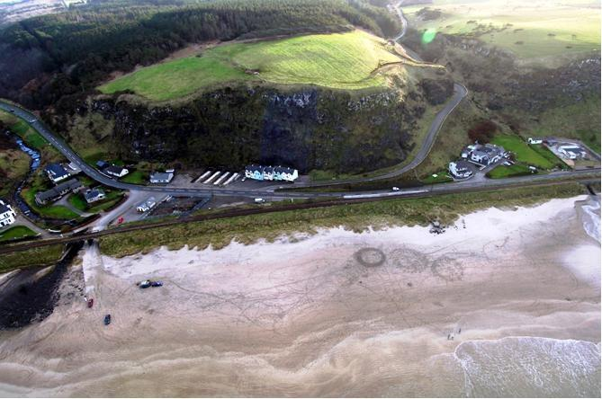 view of beach and Sandybank house