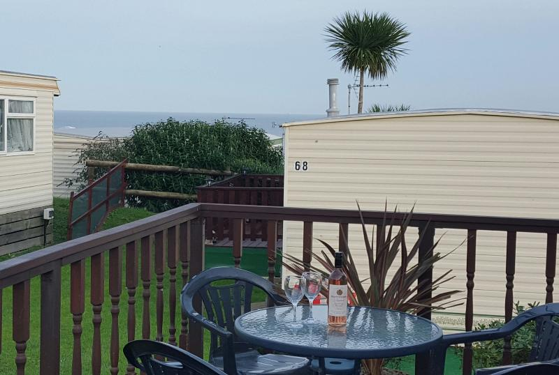 Enjoy the sea view from the decking