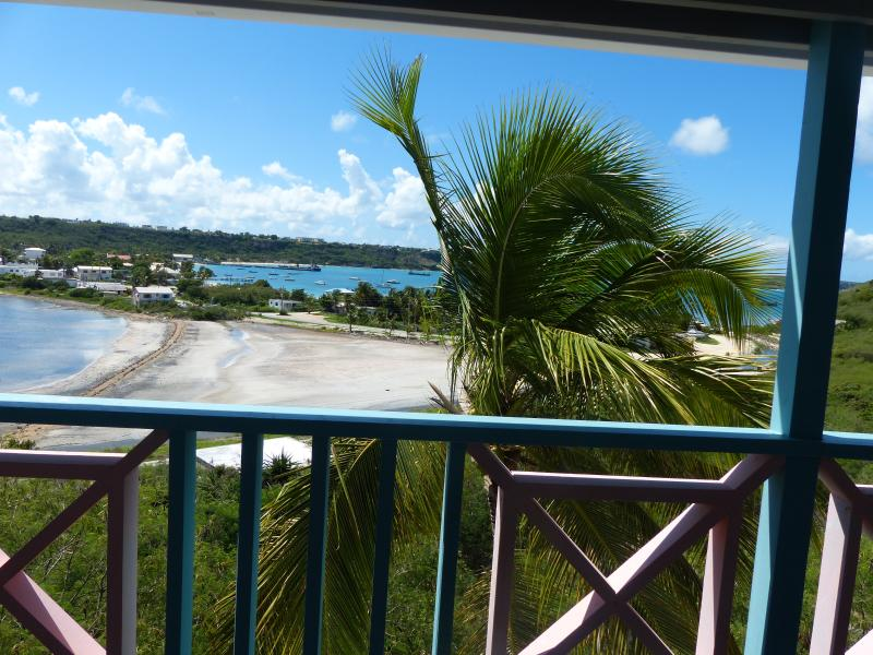 view of the bay from the 2nd floor veranda