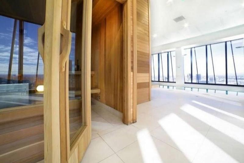 A sauna.