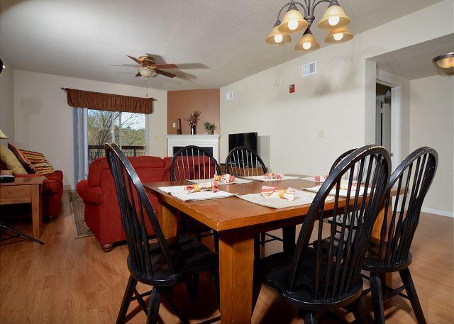 Cedar Lodge 503 - Dining Table for 6 with Hardwood Floors
