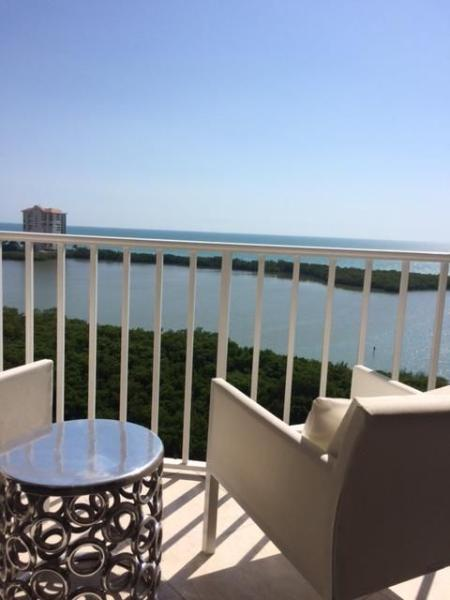 View of both The Gulf of Mexico and Clam Bay from the Lanai.