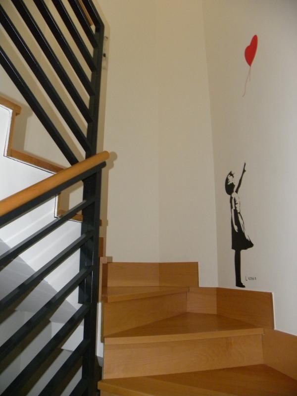 Escaleras al ático.