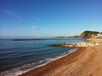 Sidmouth main town beach