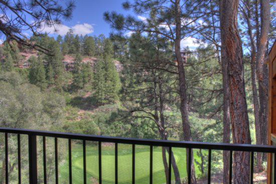 Outdoor Private covered patio overlooking Glacier Valley Course.