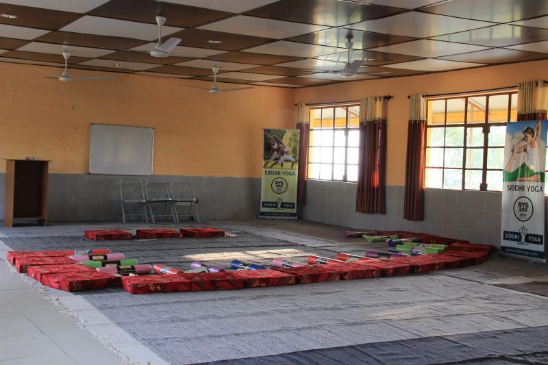 Yoga Hall at Siddhi Yoga Dharamshala