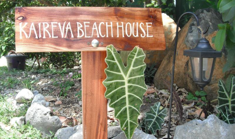 Kaireva Beach House entrance
