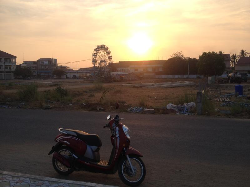 watching sunset at riverside, it was the best moment ever, don't wait any longer... let's go to KPC.