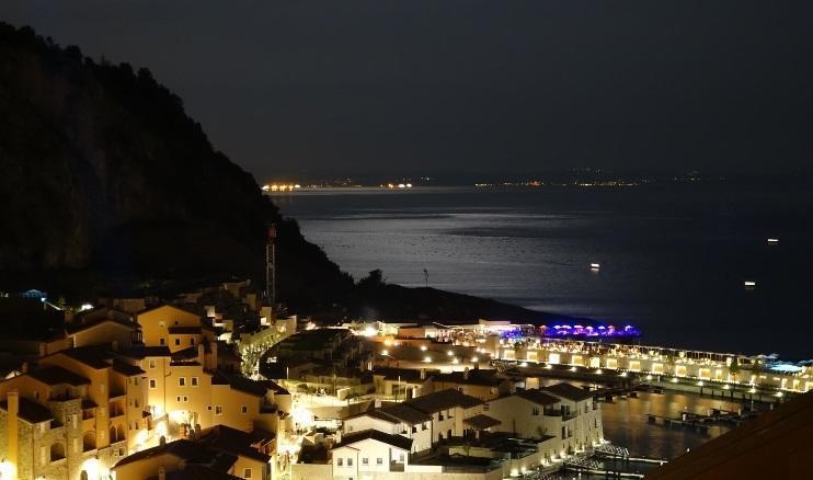Vista notturna dalal terrazza