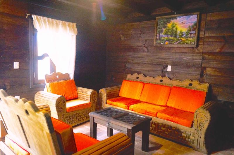 Soggiorno con comodi divani & camino / Sala Con comode divani y Chimenea