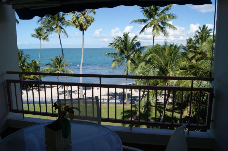 First floor balcony facing the Caribbean Sea.