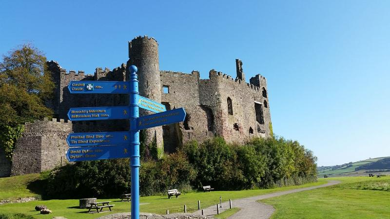 Laugharne Castle (less than a minute's walk away)