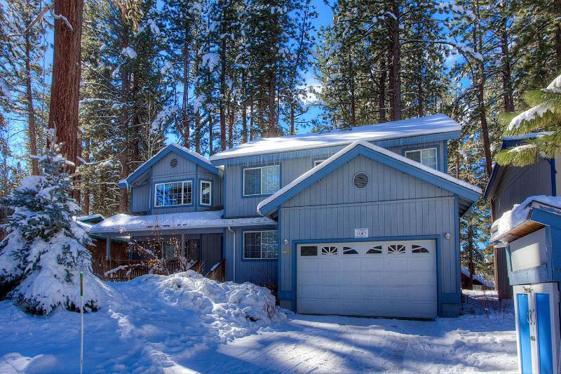 Bâtiment, Cottage, extérieur, Neige, Cabine