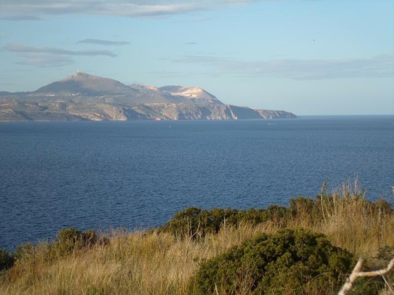 A View of Souda Bay meeting the Aegean Sea from a walk near the Villa