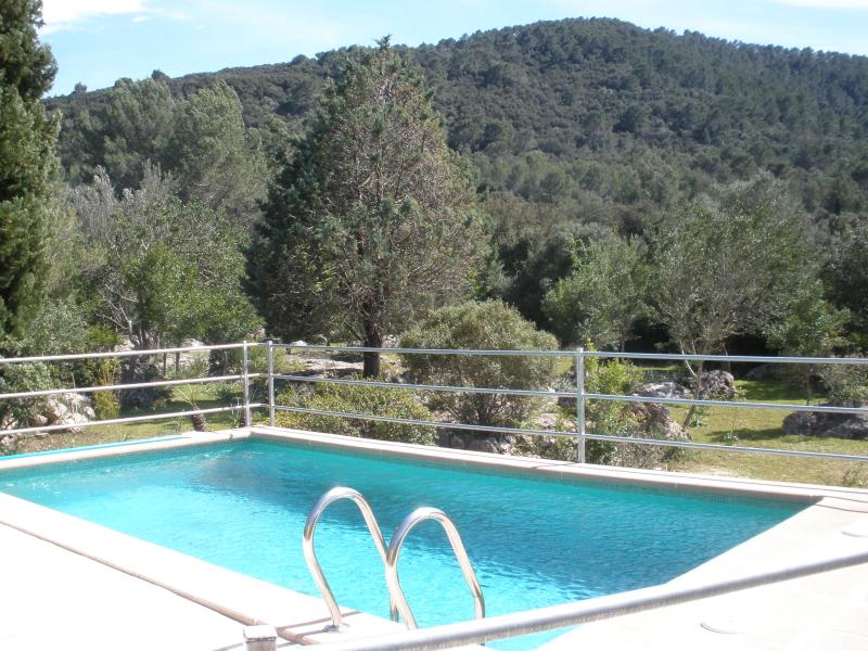 Swimming pool with views of the mountain