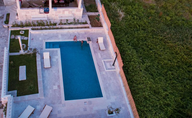 The pool area from air