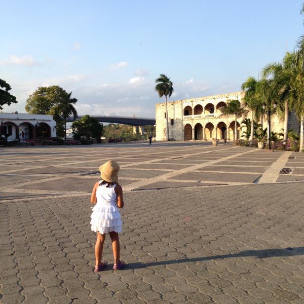 Girl on Plaza de Espana.