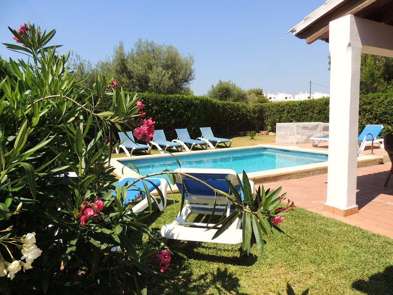 Pool Area with comfortable Sunloungers