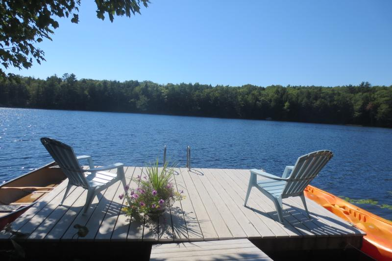 Your Private Deck for Swimming, 2 man Kayak, and Canoe, noodles and rafts. Life vests are available.