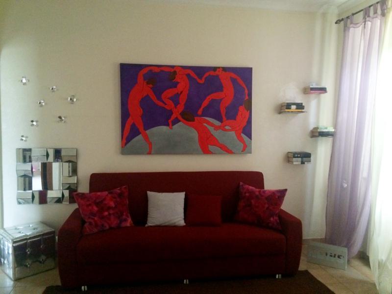 Detalhe do sofá de sala de estar