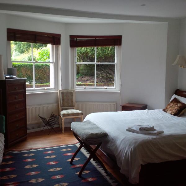 Mater bedroom  windows towards the garden
