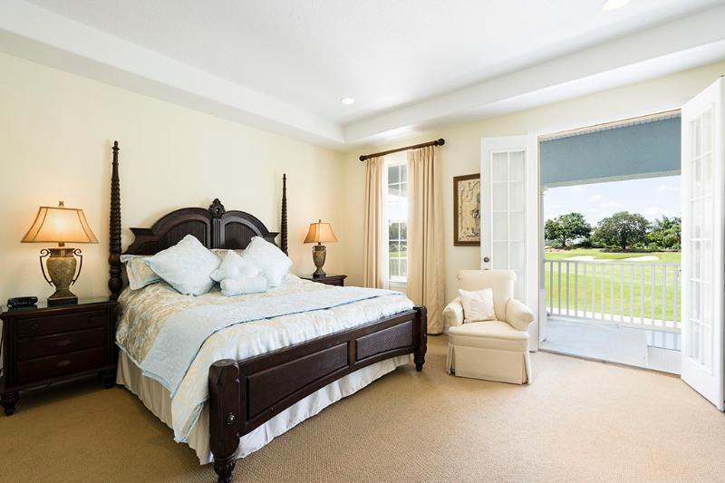 Master bedroom upstairs with separate walk in wardrobe.