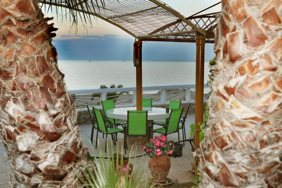 More seating-dining area with seaview