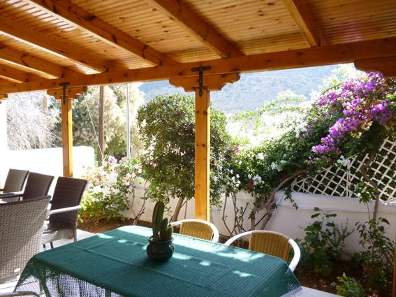More dining-seating areas by the garden with the view of the mountain