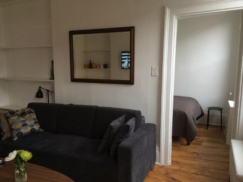 Totalmente mobilado apartamento T1 em Williamsburg/prédio na esquina da Bedford Ave norte 8 St