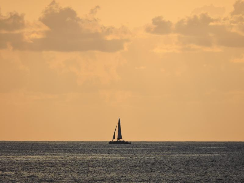 Sailboat going by (taken from balcony)