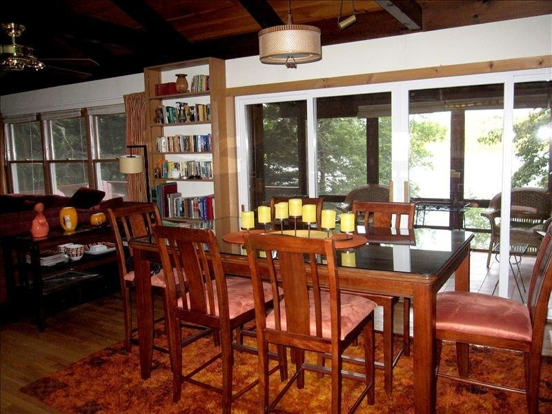Dining Room Table with Lake View