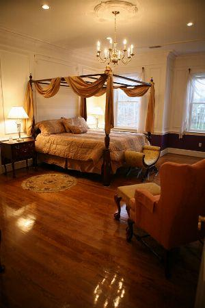 Chippendale Room: Large, spacious with private bath, king bed, wing chair, desk,TV,  all toiletries.