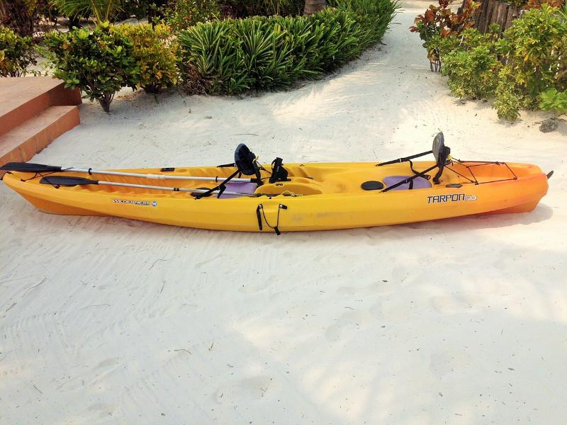 A 2 seater sea Kayak at your disposal.  Snorkeling gear available.