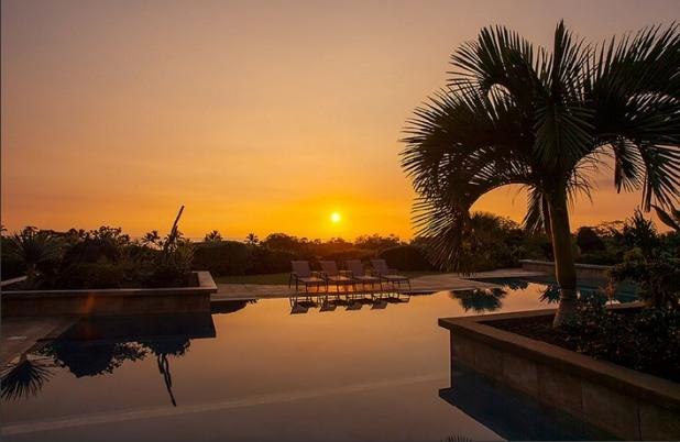 Watch the sun set from the pool.