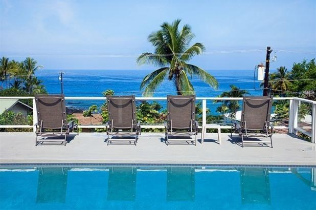 Ocean views and breezes from your private pool.