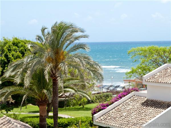 View of the beach from the villa master bedroom