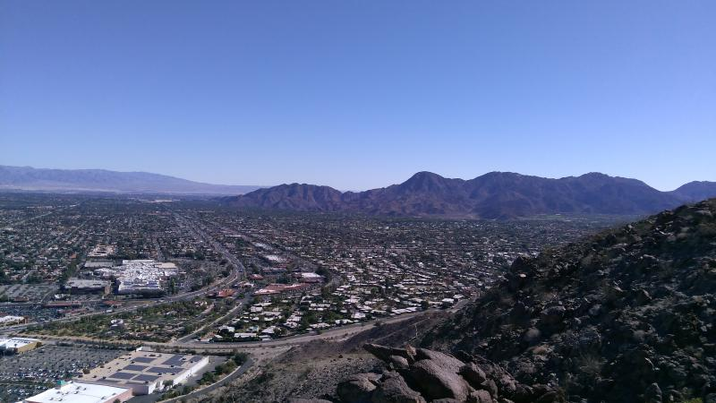 The view from one of the hiking trails