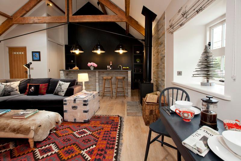 A large loft-style cottage.