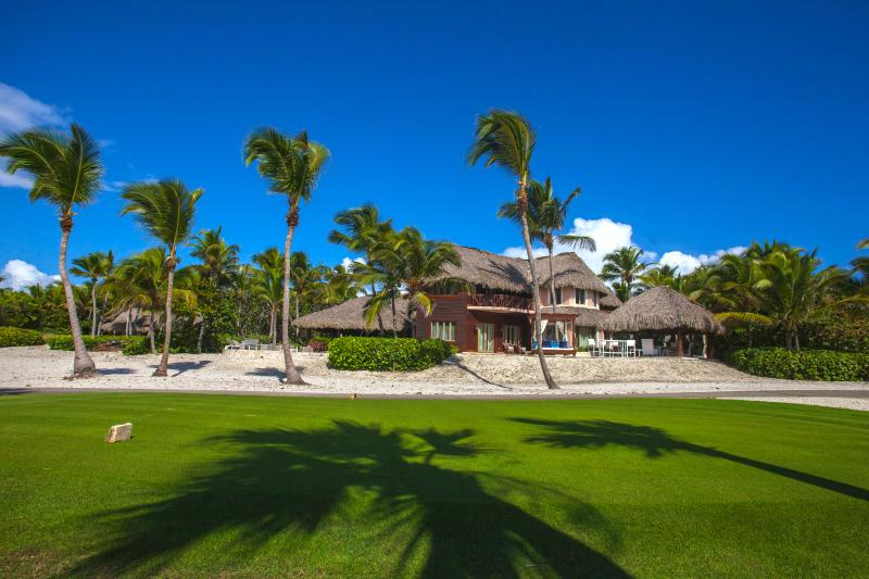 Villa seen from the tee box on hole #17 on the Punta Espada Golf Course.