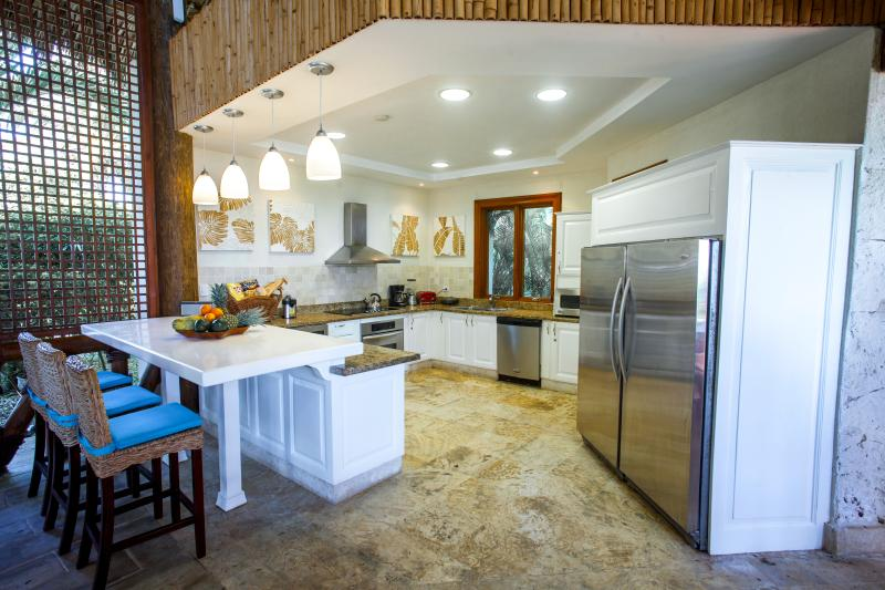 Modern fully equipped and open kitchen