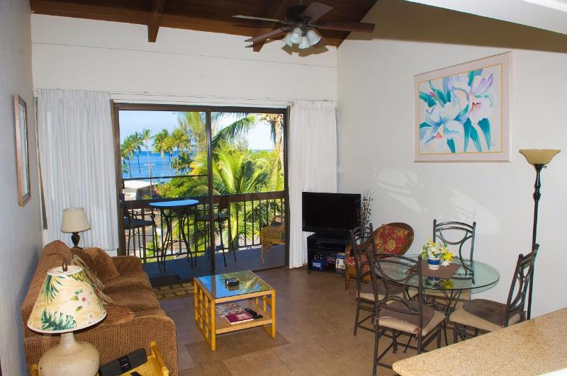 Picturesque ocean view from inside condo