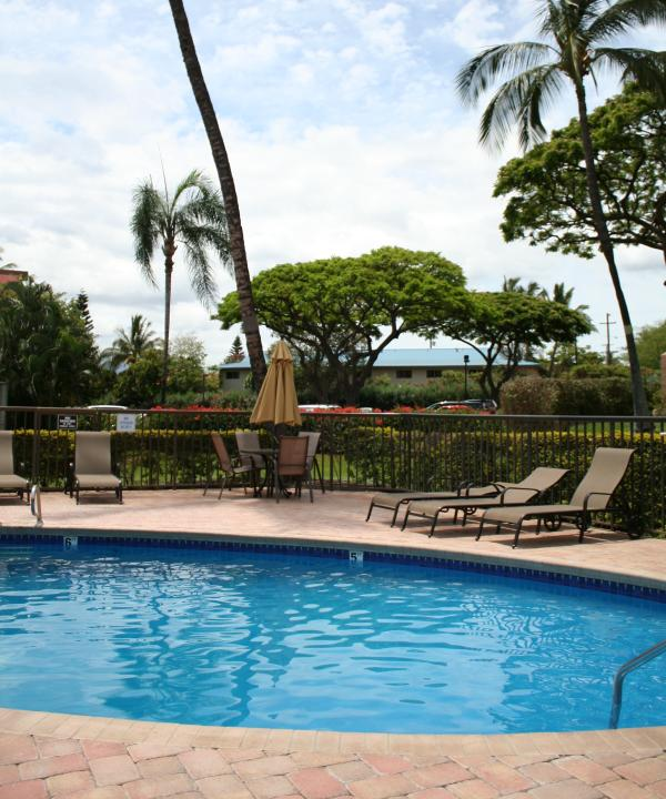 Détendez-vous au bord d'une des trois piscines au condo