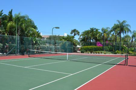 2 Private, Lighted Tennis Courts on Property